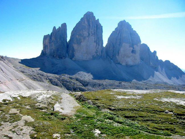 The Three Peaks of Lavaredo from Dobbiaco