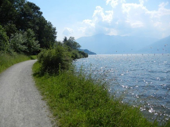 The Valchiavenna bicycle trail
