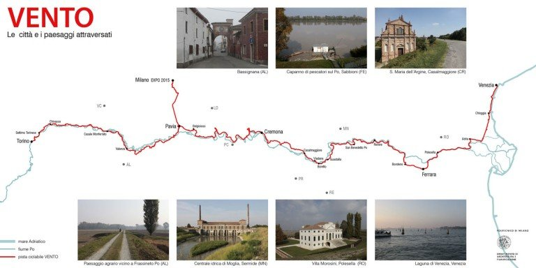 VENTO Bicycle Trail: 679 km from Venice to Turin